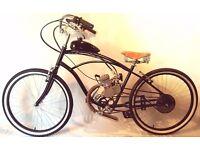 Motorised Beach Cruiser Amsterdam Bicycle VW Vintage Paddock Bike Hipster Moped