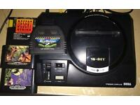 Megadrive + 4 games working