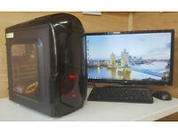 Fast PC Computer Tower Intel Core 2 Quad 4GB RAM 250GB HDD Win 10 Tower Only