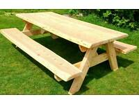Heavy duty 10 seater Picnic Table