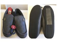 Liverpool Grey Mens Moccasin Slippers Uk Size 11/12 - Tried on for 5 mins -