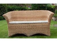 Double Wicker Sofa for the Conservatory