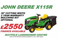 New John Deere X115R Ride On Lawnmower *Pay Off Option*