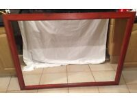 Large Rectangle Wall Mounted Mahogany Wooden Framed Mirror - 40 inch x 52 inch