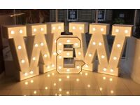 Giant light up Love letters for hire £150 (limited time only)