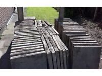 FREE Concrete Garden Paving/Flags approx 75cm long x 60cm wide x 5cm or 6cm thick - Total Qty 65 off