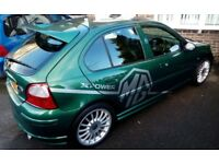 MG ZR+ 1.8, 120bhp, Manual, Green, Half Leather, X-Power Decals. **REDUCED** for quick sale