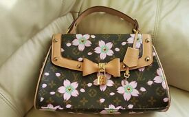 Louis Vuitton brawn flawers pink monogram hendbag/bag