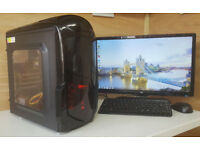 Fast PC Computer Tower Intel Core 2 Quad 4GB RAM 250GB HDD Win 7 Tower Only