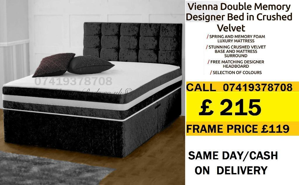 DEVIANA SINGLE DOUBLE KING SIZE MEMORY FOAM DESIGNERBeddingin Heathrow, LondonGumtree - IMPRESSIVES OFFER....EXTREME Quality Furniture like Divan and Leather Base available contact us