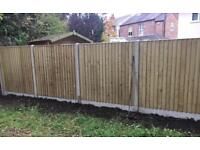 🌳 PRESSURE TREATED WOODEN GARDEN FENCE PANELS ~ VARIOUS STYLES & SIZES