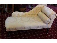 Cream chaise lounge excellent condition