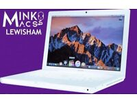 WHITE 13' APPLE MACBOOK LAPTOP 2GHZ DUAL CORE 2GB RAM 160GB HDD - WARRANTY - MINKOS MACS LEWISHAM