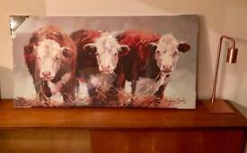 Cattle / cow canvas art