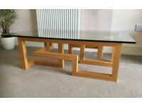 Glass and Wood Coffee Table from Studio One