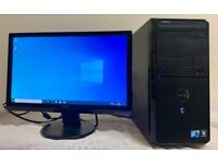 Dell Vostro Computer Desktop Tower PC & 19 Acer Widescreen LCD