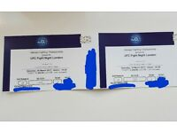 2 Tickets for UFC Fight Night London (Price for both)