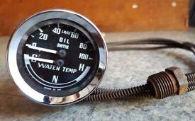 MGB oil pressure and temperature gauges