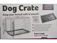 Safe'n'Sound dog crate & Matress -Extra large - brand new in box -suitable for large dogs