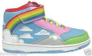 GIRLS-INFANTS-KIDS-HIGH-TOP-CASUAL-GOLA-RAINBOW-TRAINERS-SIZE-8-9-10-11-12-13