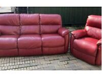 3 seater & Armchair leather