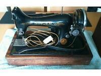 2x vintage sewing machines Singer and Pinnock