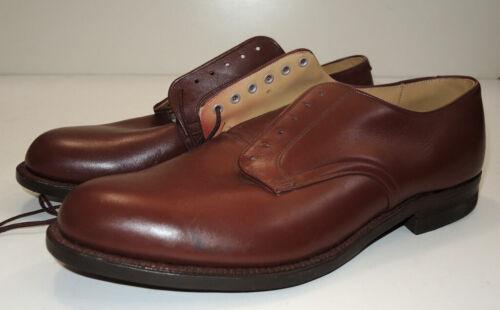 Vintage UNWORN NOS 1961 HH Brown Military Dress Shoes 11R Vietnam Era