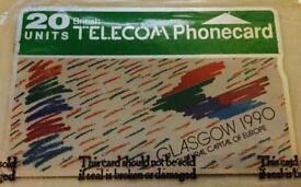 Glasgow City Culture 1990 Phone Card (Unopened)