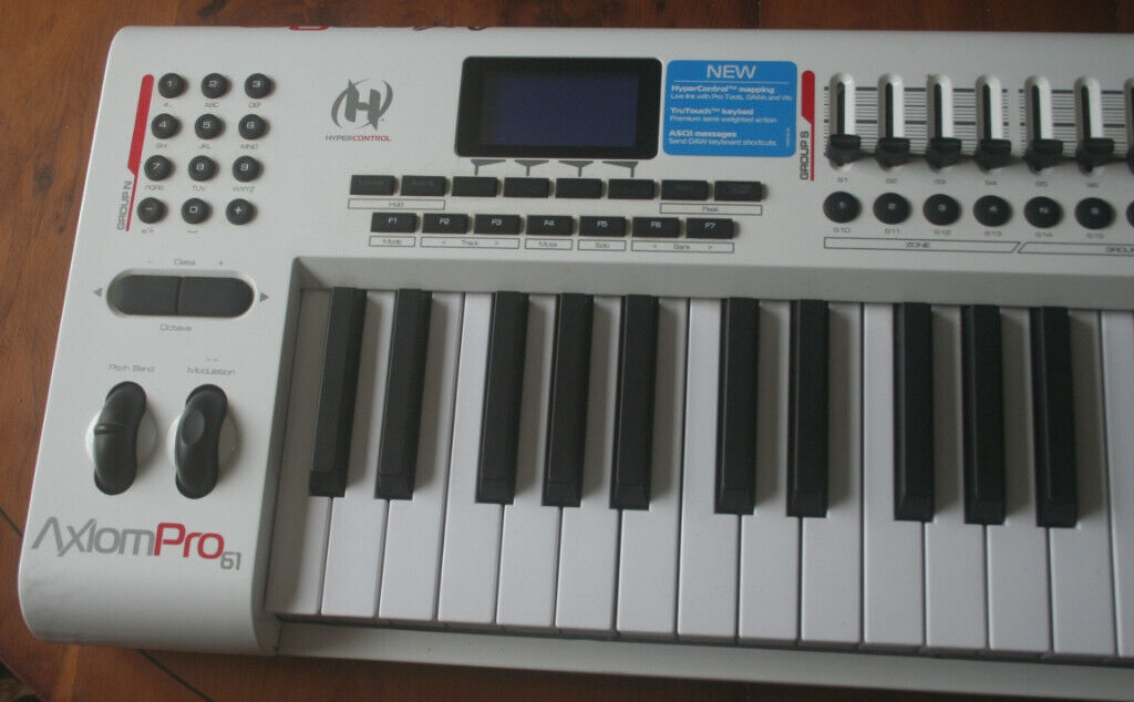 M-Audio Axiom Pro 61 , TruTouch semi-weighted 61-Key premium keyboard with  HyperControl MIDI mapping | in Maryport, Cumbria | Gumtree