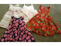 Baby girls clothes bundle 12-18, 18-24 months & 2-3 years dresses M&S zara next over 30 items
