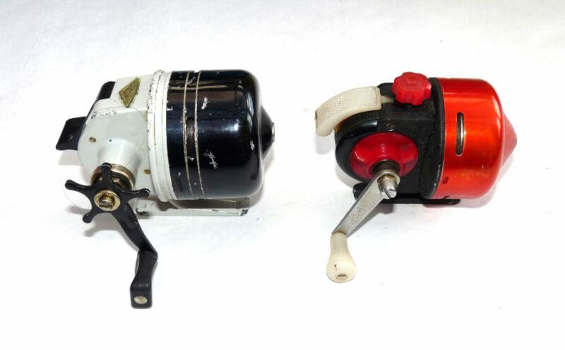 Abu Matic 80 Swedish bait casting vintage fishing reel & another similar