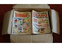 Large box of Beano & Dandy comics ('90-'96) in good condition