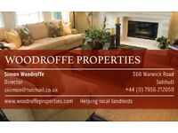 Rental properties wanted in Birmingham & Solihull. Guaranteed rent offered to Landlords
