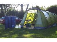 Vango Icarus 500 delux tent plus awning carper groundsheet and footptint.