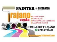 Professional painter decorator and laminate flooring