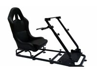 Racing Game Racer Simulator Cockpit Simulation Seat Chair Race Gaming PS4 Xbox PC