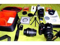 Bargain! SUPERB Nikon D3200 Digital SLR-Kit with 2 Lenses and loads of extras.
