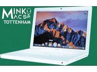 APPLE MACBOOK WHITE 13.3' LAPTOP CORE 2 DUO@ 2Ghz 1GB RAM 80GB HDD MINKOS MACS TOTTENHAM WARRANTY
