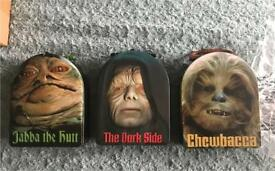 Star Wars tin lunchboxes x 3