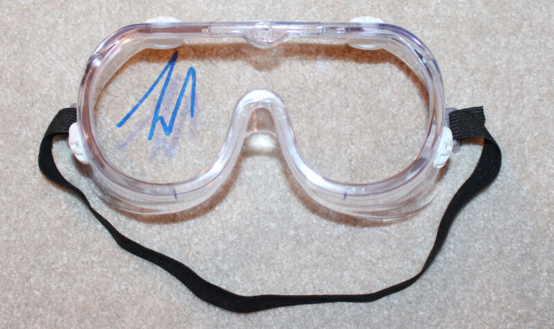 TIM ALLEN SIGNED CONSTRUCTION GOGGLES SAFETY GLASSES HOME IMPROVEMENT COA PROOF