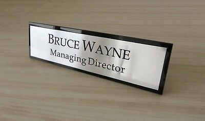 Contemporary Office Plaque Executive Desk Name Plate Custom Engraved Sign