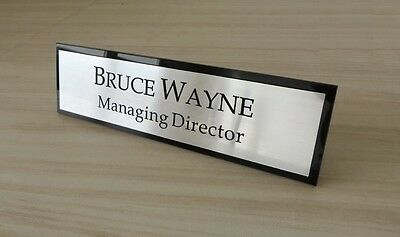 Contemporary Office Plaque Executive Desk Name Plate Custom Engraved Sign