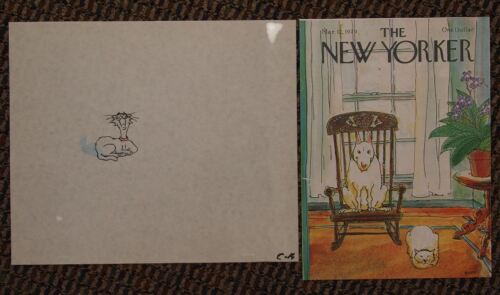 Vintage Original Production Cel George Booth New Yorker Magazine Artist Cat Art