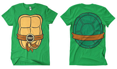 Offiziell Lizenziert Teenage Mutant Ninja Turtles Kostüm Herren - T Shirt Ninja Kostüm