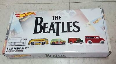 Hot Wheels The Beatles Set Of 5 Cars   Box Toys R Us Exclusive