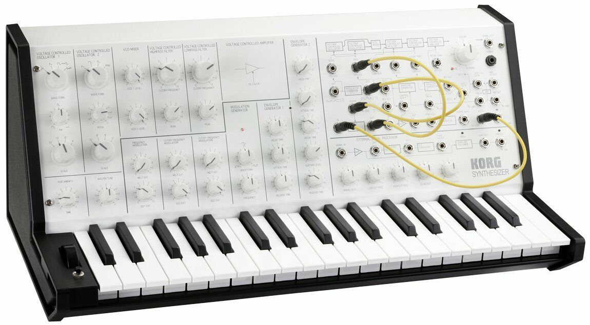 KORG MS-20 MINI WHITE MONOTONE SINTETIZZATORE ANALOGICO Limited Edition