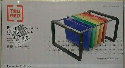 Tru Red Premium Hanging File Frame Letter Size Black New Open Box