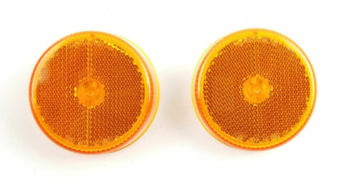 Triton 08477 Amber 2.5 Inch Round LED Clearance Sidemarker Light - 2 Pack