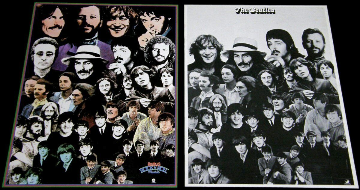 THE BEATLES 1976 & 1975 PROMOTIONAL POSTERS Apple/Capitol