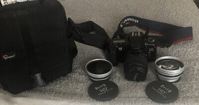 Canon Rebel XS EOS  EF-S with 35-80mm Canon Zoom Lens And Extras